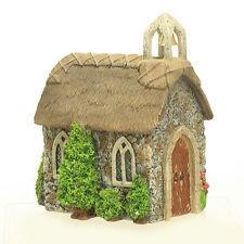 Thatched Village Church ~ Fairy House ~ Fairy Garden ~ Miniature Garden Ornament
