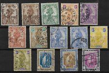 Malta, 1922 Melita, complete set used to 2/6d (8395)