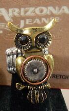 Owl Bird Stretch Ring New Steampunk Style Arizona Jeans Co. One Size Fits All