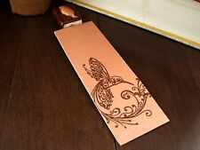 Polymer Clay MiniBook Bookmark Hummingbird Sealed Imprinted Card Birds & Nature