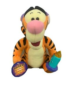 Vintage Disney Plush Tigger with Light up Candle 1998 Mattel Works New With Tag