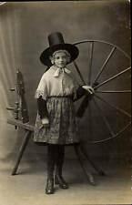 Aberystwyth photo. Girl in Welsh Dress by Culliford, Photographer, Aberystwyth.