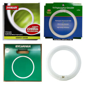 Branded 4 Pin Circular T9 Fluorescent Round Tube 22w 32w 40w or 60w Warm or Cool