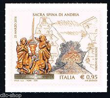 ITALIA 1 FRANCOBOLLO SACRA SPINA DI ANDRIA 2016 nuovo**