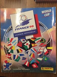 Panini France 98 World Cup Sticker Album 1998 Zidane Henry