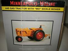 """Minneapolis Molene 445 Gas tractor with """"MO"""" sickle mower 1/16th scale"""