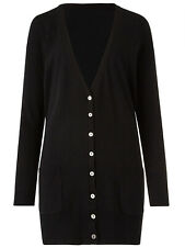 Ladies Capsule V-Neckline Cardigan Boyfriend Fit Knitwear Plus Sizes 8 to 34 NEW