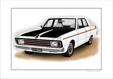 VALIANT  VG   245 HEMI  PACER     LIMITED EDITION CAR PRINT DRAWING
