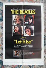 Beatles VERY RARE 1970 ORIGINAL U.S. ' LET IT BE ' 1 SHEET MOVIE POSTER! UA !