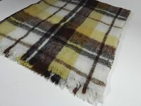 Vintage Mohair Throw Blanket Plaid