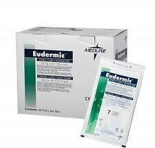 Medline Eudermic Surgical Latex Exam Gloves, Powder Free, Size 8.5, 50 pairs/cs