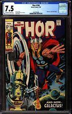 Thor 160 CGC 7.5 OWW Galactus vs Ego Battle Begins