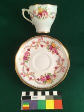 ROSLYN Cup & Saucer Set Terry Pattern England Fine Bone China