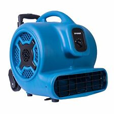 XPOWER P-830H 1 HP 3600 CFM Air Mover Carpet Dryer Fan Blower w/ Handle & Wheels