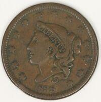 1838 Coronet Head Large Cent. VF. RAW4122/UQ