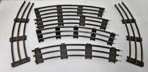 Five sections Prewar Lionel Ives Standard Gauge CURVED track Train tinplate