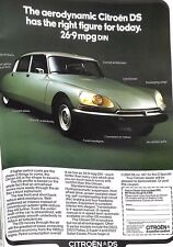 Original 1970s 'Citroen DS' Car Advertisement from Country Life Magazine