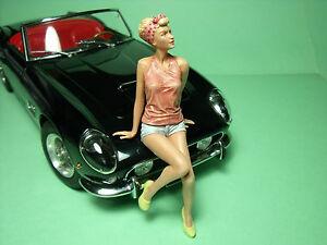 1/18 FIGURE  GIRL ROMY  VROOM  UNPAINTED  FOR  MINICHAMPS  AUTOART  SCHUCO  CMC