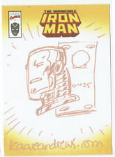 Marvel Legends Topps The Invincible Iron Man Sketch Card Kaare Andrews
