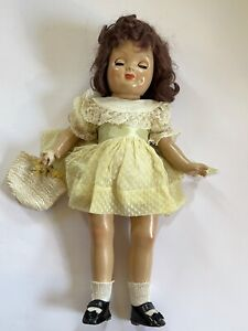 Beautiful Vintage Doll with Green and Lace Dress, w/ Shoes & Socks, Very Nice!