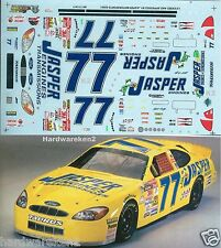 NASCAR DECAL #77 JASPER ENGINES 2001 FORD TAURUS DAVE BLANEY SLIXX