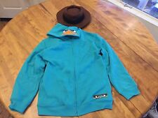 New L Youth Disney AGENT P Phineas and Ferb Hoody Jacket w/snap-on Hat Rare/Hot