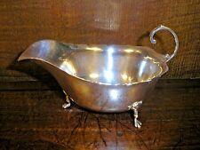 More details for excellent hallmarked solid silver 1939 gravy/sauce boat - 75gms - walker & hall