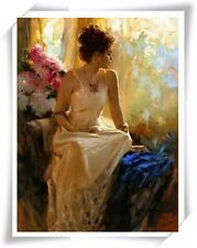 """Pino Daeni,Hand-painted Portrait oil Painting On Canvas 24x30""""#111/Unframed"""