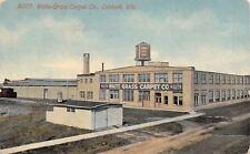 Oshkosh Wisconsin~Waite-Grass Carpet Company Factory~Water Tower~1913 Postcard