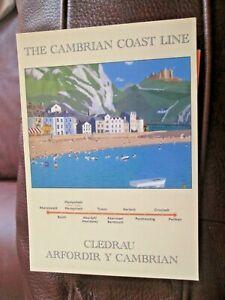 The Cambrian Coast Line large unused modern advertising  postcard