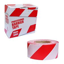 Cinta De Barrera advertencia de riesgo de seguridad, no adhesiva, Rojo & Blanco, En Caja De 70mm X 500m