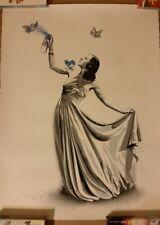 Mr Brainwash Untitled Snow White Blue Edition Art Print poster spray nepal birds