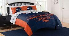 Denver Broncos Nfl Queen Comforter, Logo'd Sheets & Shams, 7 Piece Bed In A Bag