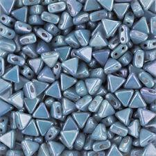 Czech Kheops® Par Puca® Beads Opaque Blue Luster 6mm 9g (K102/7)