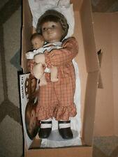 Vintage 1980's #2482 Switzerland Heidi Ott Artist Doll Lucie and Baby In Box 356