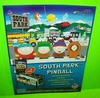 South Park Pinball FLYER Original NOS Sega Game Cartoon Artwork Sheet Great Gift
