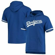 MITCHELL & NESS Los Angeles Dodgers French Terry Short Sleeve Hoodie sz S Small