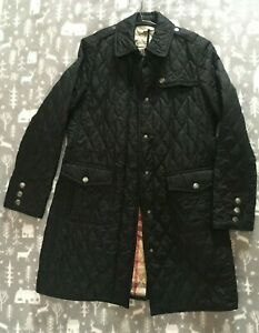 Women's 'Burberry Brit' Classic Burberry Quilted Jacket Black, Size L (UK 12-14)
