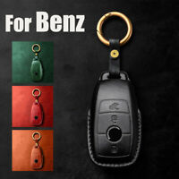New Real Leather Car Key Chain Case Shell Cover Bag For Mecedes Benz Accessories