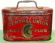 Vintage Central Union Cut Plug Tobacco Tin