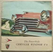 CHRYSLER WINDSOR V8 USA LF Car Sales Brochure 1956 NEWPORT Sedan CONVERTIBLE