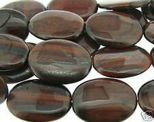 "8"" Strand RED TIGER EYE 30x40mm Oval Pendant Beads"