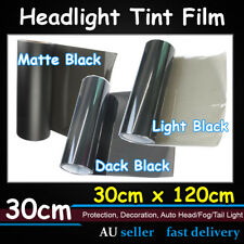 Smoke Light Black Auto Headlight Tint Film Fog Side Lamp Wrap Protect 1.2Mx30CM