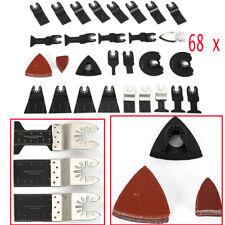 68 Pack Saw Blades DIY Oscillating Multi Tool Cutting Cutter Universal