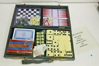 5 GAME TRAVEL SIZED GAME SET CHECKERS CHESS CRIBBAGE BACKGAMMON DOMINOES