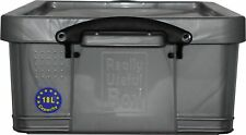 Really Useful Products 18L Kunststoffbox mit Deckel - Silber