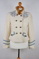 * Vintage Femme Stapf Autriche Cardigan Boiled Laine Pull Gilet Taille D 38