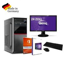 PC OFICINA ORDENADOR 16gb DDR4 RAM SSD completo Windows 10 & MS OFFICE + 24""