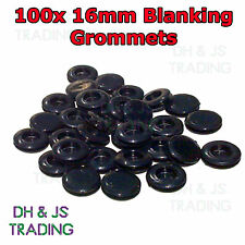 100 x 16mm Blanking Grommets Electrical Closed Wiring Rubber Blind Bungs Grommet