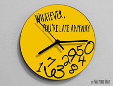 Whatever, you're late anyway / Round Yellow - Wall Clock